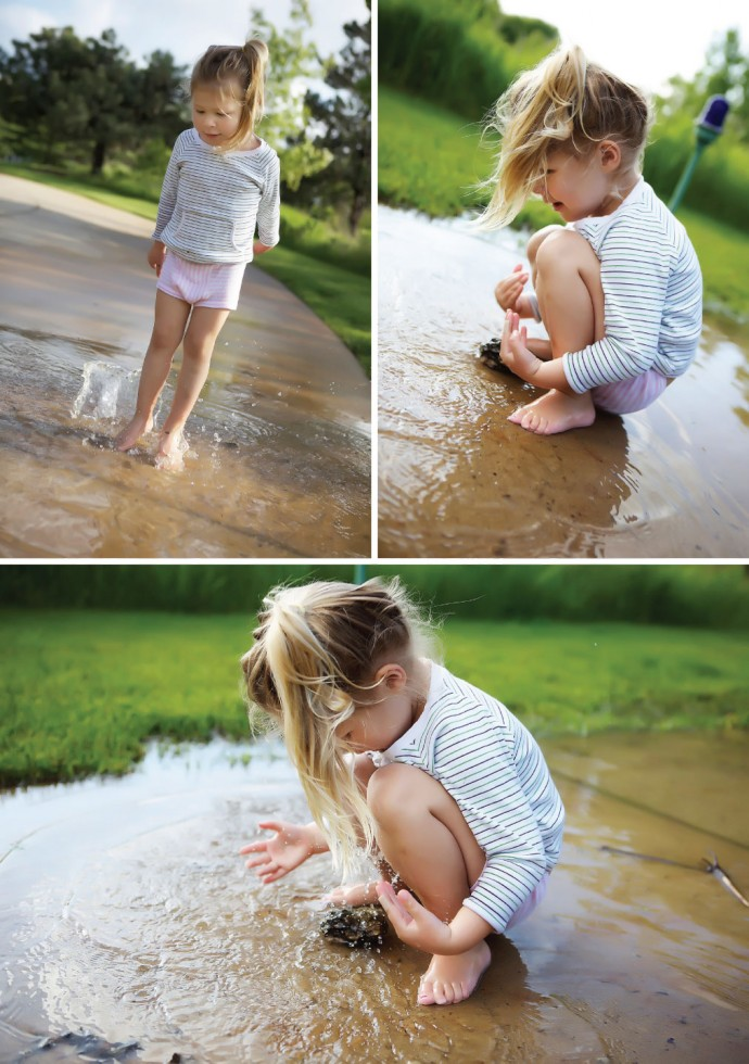 summer fun in the puddle