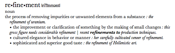 refinement definition